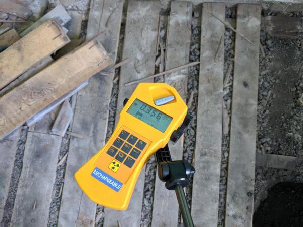 kohósalak radioaktív sugárzás mérése